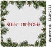 christmas grunge background...   Shutterstock .eps vector #521842735