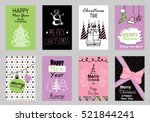 collection of flat design... | Shutterstock .eps vector #521844241