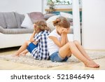 two siblings pouting in silence ... | Shutterstock . vector #521846494