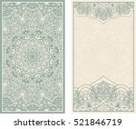 set of wedding invitations or... | Shutterstock .eps vector #521846719