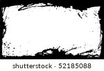 white banner with black grunge... | Shutterstock . vector #52185088