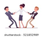 men struggling for a woman... | Shutterstock .eps vector #521852989
