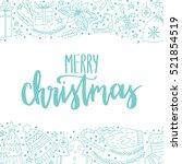 vector hand written winter...   Shutterstock .eps vector #521854519