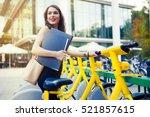 businesswoman using environment ... | Shutterstock . vector #521857615