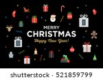 greeting christmas and happy... | Shutterstock .eps vector #521859799
