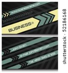 business cards set 45 | Shutterstock .eps vector #52186168