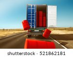 truck loses freight | Shutterstock . vector #521862181