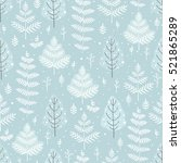 christmas forest  seamless... | Shutterstock .eps vector #521865289