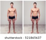 two full length portraits of a... | Shutterstock . vector #521865637