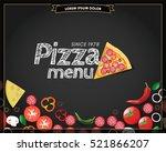 pizza menu chalkboard ...