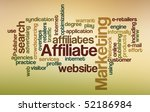 affiliate marketing   word cloud | Shutterstock . vector #52186984