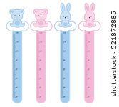 meter wall rabbits and bears | Shutterstock .eps vector #521872885