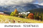 autumn colors of forests over... | Shutterstock . vector #521876611