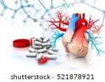virtual image of human heart...   Shutterstock . vector #521878921