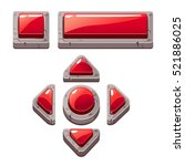 red cartoon stone buttons for...