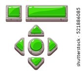 green cartoon stone buttons for ...