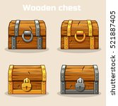 Closed Wooden Treasure Chest ...