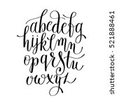 black and white hand lettering... | Shutterstock .eps vector #521888461