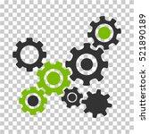 gears mechanism icon. vector... | Shutterstock .eps vector #521890189