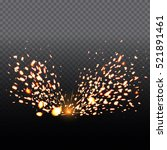 fire sparks of metal welding... | Shutterstock .eps vector #521891461
