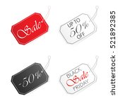 set of sale labels isolated on... | Shutterstock .eps vector #521892385