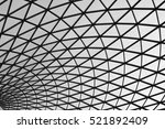 black and white abstract roof | Shutterstock . vector #521892409