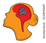 negative thinking icon | Shutterstock .eps vector #521893069