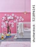 children's room with basket ...   Shutterstock . vector #521896141