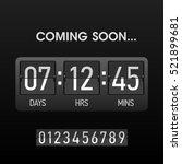 coming soon countdown website... | Shutterstock .eps vector #521899681