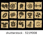 sports icons on crumpled paper | Shutterstock . vector #5219008