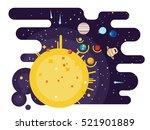 solar system flat style | Shutterstock .eps vector #521901889