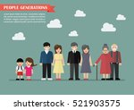 people generations in flat... | Shutterstock .eps vector #521903575