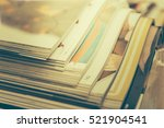 stack of magazines  vintage... | Shutterstock . vector #521904541
