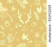 christmas pattern.xmas design... | Shutterstock .eps vector #521912329