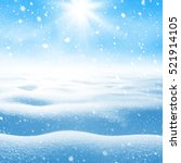 winter background. winter... | Shutterstock . vector #521914105