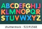 the alphabet in multicolored... | Shutterstock . vector #52191568