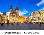 Prague old town square and...