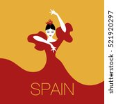 flamenco dancer woman. logo... | Shutterstock .eps vector #521920297