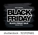 black friday sale banner | Shutterstock .eps vector #521929681