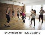 diversity people exercise class ... | Shutterstock . vector #521932849