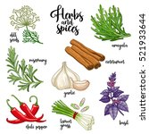 spices and herbs vector set to... | Shutterstock .eps vector #521933644