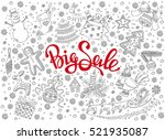 christmas big sale vector... | Shutterstock .eps vector #521935087