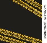 yellow wheel prints in black... | Shutterstock .eps vector #521937991