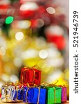 colorful christmas gifts  in... | Shutterstock . vector #521946739