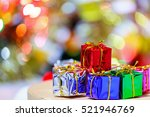 colorful christmas gifts  in... | Shutterstock . vector #521946769