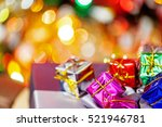 colorful christmas gifts  in... | Shutterstock . vector #521946781