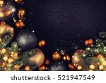 christmas balls.   Shutterstock . vector #521947549