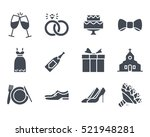 wedding icon glyph solid vector ... | Shutterstock .eps vector #521948281