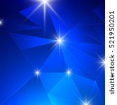 blue background with triangle... | Shutterstock .eps vector #521950201