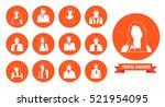 avatars of people on an orange...